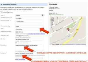 inscription Google Adresses Partie 1