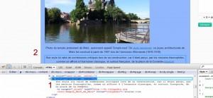 fichier html modifié avec firebug et visualisation en direct