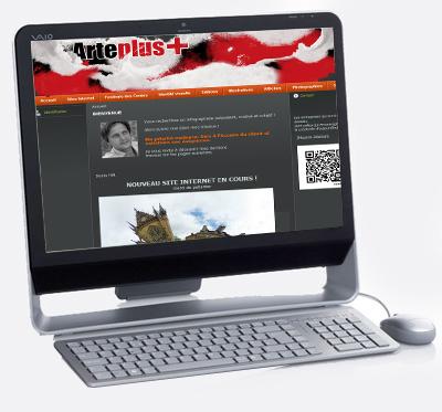 site internet Denis Hilt pour Arte+